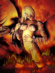 Luckless 3D Elven Priestess...