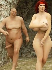 Hentai Slut with plump...