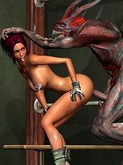 3D Giant fuck a hot Nymphet...