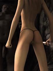 Sweet 3D miss riding dick...