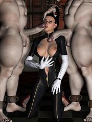 3D Elven Priestess watches...