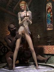 3D Hooker chokes on hot...