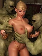 Fantasy Heroine fucked by...