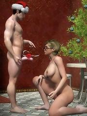 3D Boss gets cummed all...