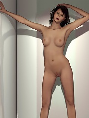 Brunette with jiggling...