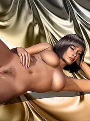 Hot 3D Belle gets exploited...