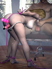 3D Lady blows and gets her...