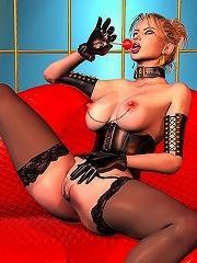 3D Nurse gets her anus...