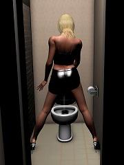 3D Porncraft Girl slammed...