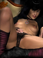 3D Lady with big breasts...