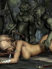 Crazy 3D Elf Princess gets...
