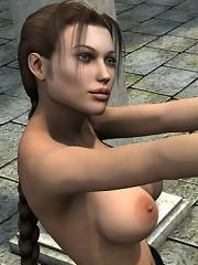 3D mistress runs her tongue...