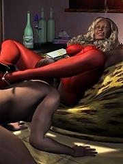 Strict Hentai Belle rubs...