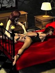 3D Nun masturbating and...