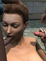 Lustful Doxy swallows...