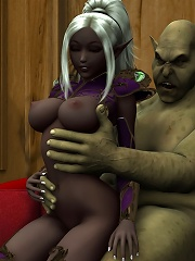 Sorceress gets cummed all...